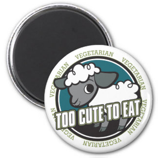 Too Cute to Eat Sheep 6 Cm Round Magnet