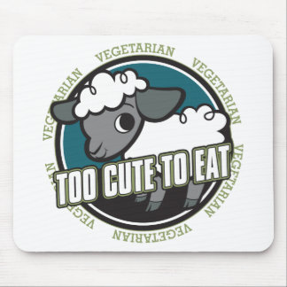 Too Cute to Eat Sheep Mouse Pad
