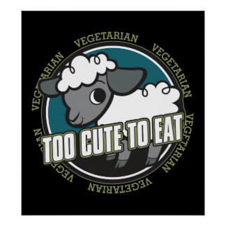 Too Cute to Eat Sheep Poster