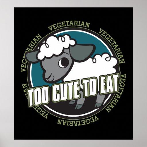 Too Cute to Eat Sheep Print