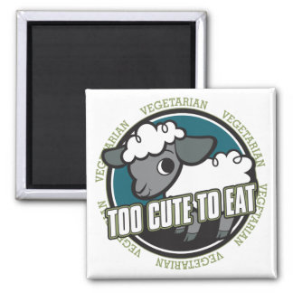 Too Cute to Eat Sheep Square Magnet