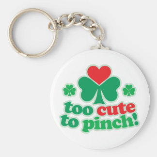 Too Cute To Pinch Basic Round Button Key Ring