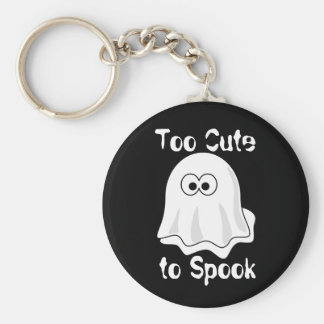 """Too Cute to Spook"" Basic Round Button Key Ring"