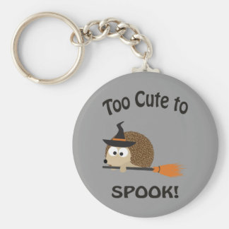 Too Cute To Spook! Hedgehog Witch Key Ring