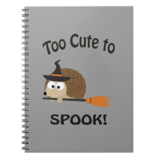 Too Cute To Spook! Hedgehog Witch Spiral Note Book