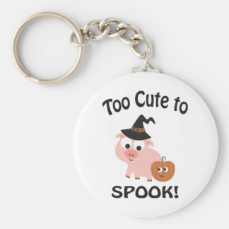 Too Cute to Spook! Pig Witch Keychain