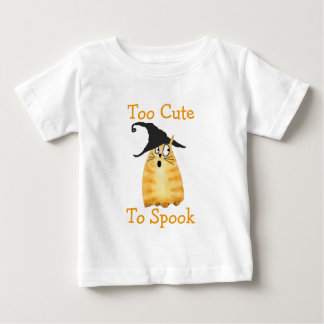 Too Cute To Spook Witch Cat Shirt