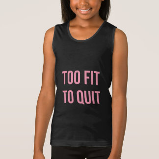 Too Fit Workout Quote Black Pink Gym Clothes Shirts