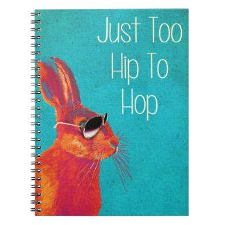 Too Hip To Hop Blue Notebook