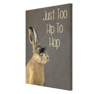 Too Hip To Hop Grey Canvas Print