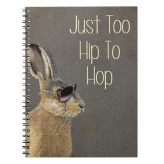 Too Hip To Hop Grey Notebook