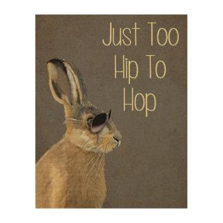 Too Hip To Hop Grey Wood Wall Art