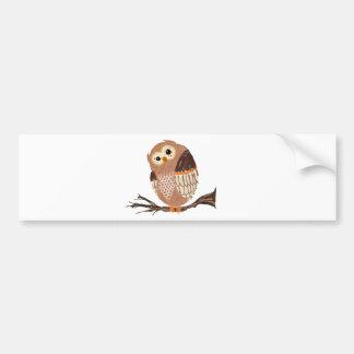 Too Hoot! Bumper Sticker