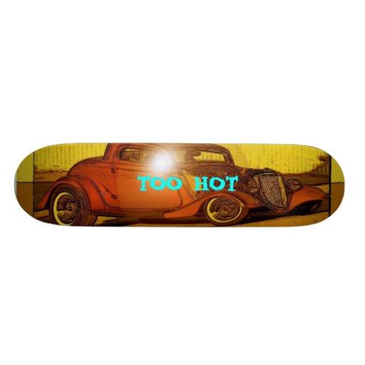 Too hot skateboard decks zazzle for Deck gets too hot