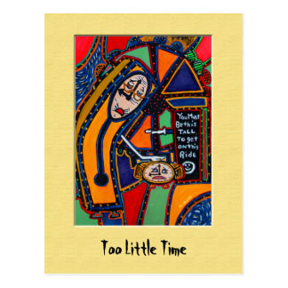 ToO lItTlE tImE Colorful Postcard