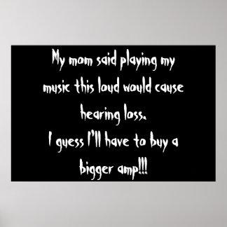 too loud? poster