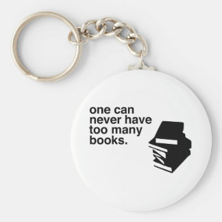 too many books basic round button key ring