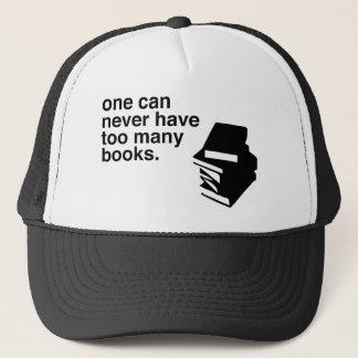 too many books trucker hat