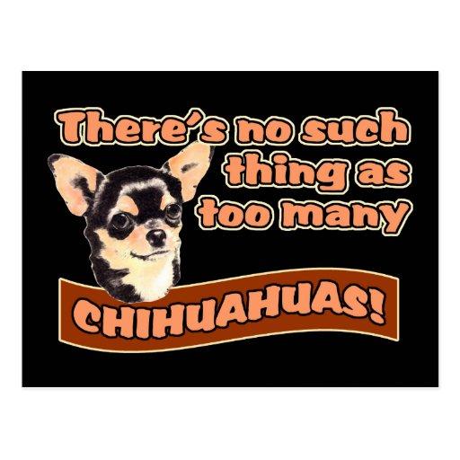 """Too Many Chihuahuas"" Postcards"