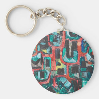 Too Many Curves (abstract cityscape) Keychains