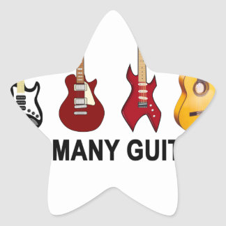 Too many guitars T-Shirt.png Star Sticker
