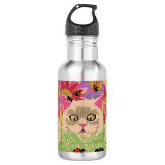 Too Many Ladybugs -Bright Pink 532 Ml Water Bottle
