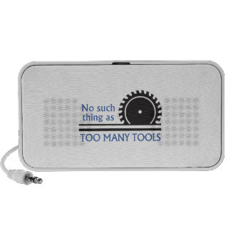 TOO MANY TOOLS TRAVELLING SPEAKERS