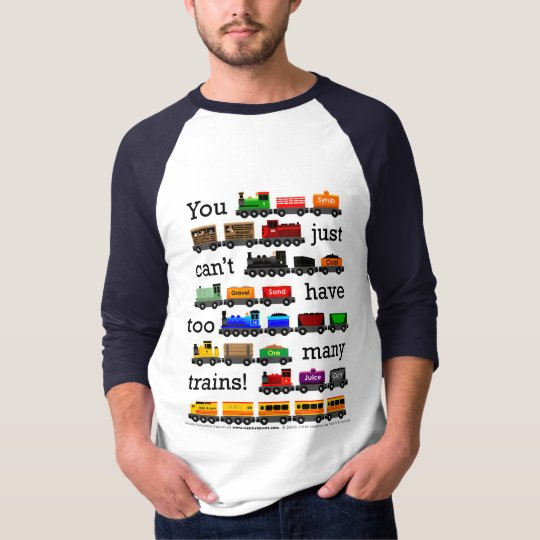Too Many Trains Jersey T-Shirt