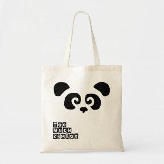 Too much bamboo! Panda bag
