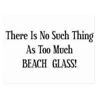 Too Much Beach Glass Postcard