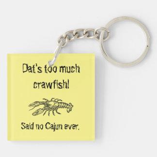 Too Much Crawfish Cajun Humorous Keychain