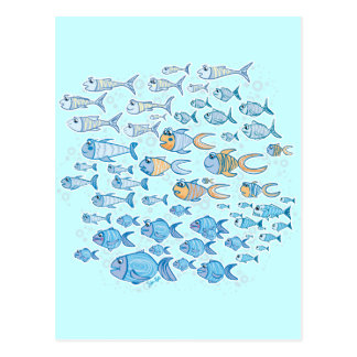 Too Much Fish Postcard