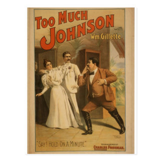 Too Much Johnson, 'Say! Hold On a Minute' Vintage Postcard