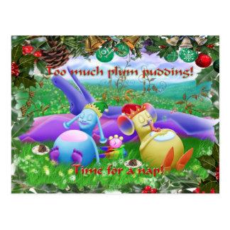 Too much plum pudding! postcard