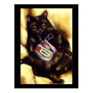 Too Much Tuna (cat) Postcard