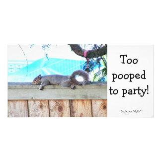 Too pooped custom photo card