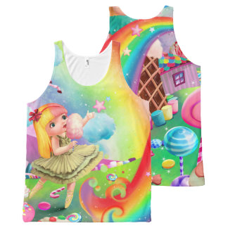 Too Too Yummy Rainbow & Unicorn Dream Chaser Tank