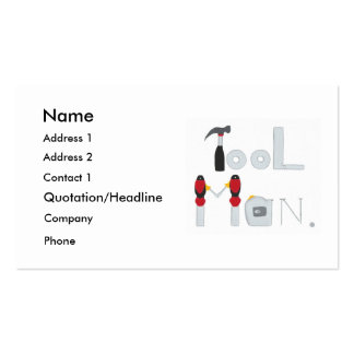 Tool Man spelled with painting of tools, business Pack Of Standard Business Cards
