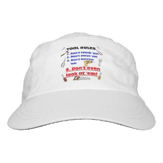 Tool Rules Humorous Wood Shop Dad Father Garage Hat