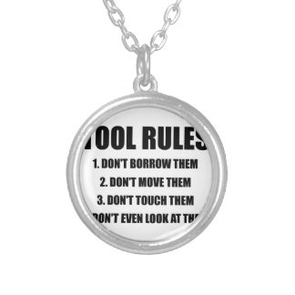 Tool Rules Round Pendant Necklace