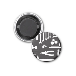 Tool Silhouette Pattern Magnet