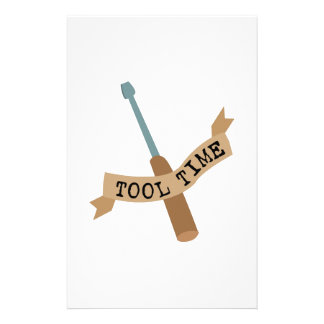 Tool Time Screwdriver Customized Stationery