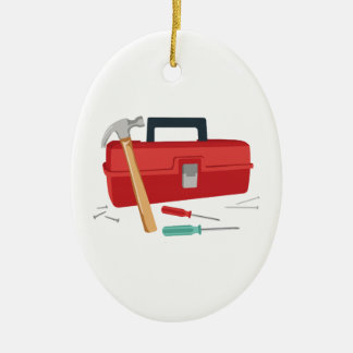 Toolbox And Tools Christmas Ornament