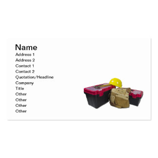 Toolboxes Tool Belt Hard Hat Business Card Templates