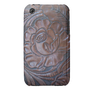 Tooled Dark Leather S Phone Case