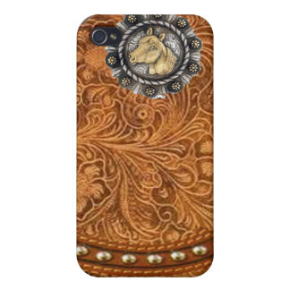 "Tooled Leather ""Comanche"" Western IPhone 4 Case"