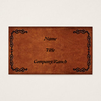 Tooled Leather Look Business Card 2