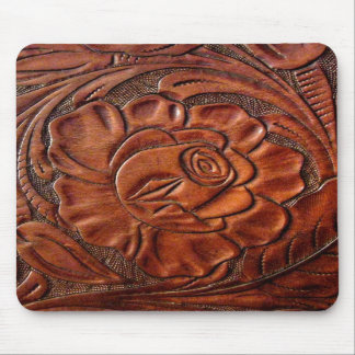 Tooled Leather Mousepad