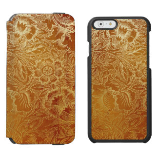 Tooled Western Leather Southwestern Amber Brown Incipio Watson™ iPhone 6 Wallet Case