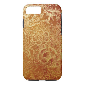 Tooled Western Leather Southwestern Amber Brown iPhone 7 Case